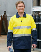 5 Of Aiw Sw46 High Visibility Cotton Jacket 100 Cotton Drill W 3m Tapes