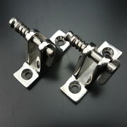 2pcs Deck Hinge Boat Bimini Top Fitting 90 Degree Pin Stainless Steel Removable