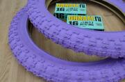 New Purple Kids Bicycle Tires And Tubes 16 X 2.125 Fits 1.75 1.95 Bmx 16 Girls