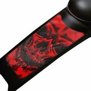 Domed 87-07 Touring Gas Tank Console Insert For Harley - Skull Face Red