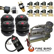 V 480c Air Compressors Pewter 1/2 Valves Air Ride 2500 Bags Blk 7 Switch Box