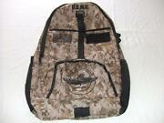 Usmc Force Recon Backpack Day Pack Book Computer Bag Desert Camo Embroidered