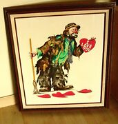 Rusty Rust Clown Heartache Emmett Kelly Canvas 20x 24 Limited Edition 25/250
