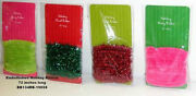 Lot Of 48 Assorted 72 Long Holiday Fuzzy/tinsel Ribbon
