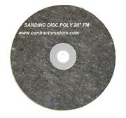 Floor Machine Prep Tool Sanding Disc Poly 20 Fm For Wood And Concrete