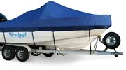 New Westland Exact Fit Sunbrella Cobalt 190 Br With Starboard Ladder Cover 97-02