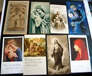 Lot Holy Prayer Cards Our Lady Of Orchard St Joseph 1960 / 1966