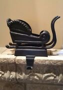 Pottery Barn Santa Sleigh Stocking Holder Sold Out @ Pb Also Avail Reindeer