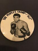 1960and039s Muhammad Ali And039the Peoples Champand039 Boxing Pm10 Stadium Pin Pinback Button
