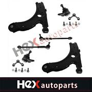 Front Lower Control Arm W/ball Joint Tie Rod End Kit Set For Beetle Golf Jetta