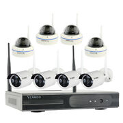 8ch Cctv System Home Surveillance Wireless Security Camera Hard Drive Kit Select