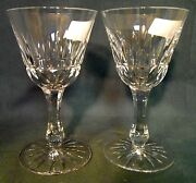 Bayel Crystal Josephine Clear Set Of 2 Water Goblet Stems 6-3/8