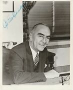 Captain Eddie Rickenbacker Wwii Hand Signed Autographed Photo W/coa