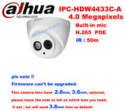 Dahua Ipc-hdw4433c-a 4mp 50m Ir Support Poe Built-in Mic Network Dome Ip Camera