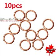 10x D=25mm Od=32mm Exhaust Pipe Gasket For Pit Dirt Motor Bike Motocycle Atv Qua