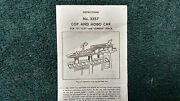 Lionel 3357 Cop And Hobo Car Instructions Photocopy
