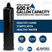 Whole House Water Filter System, 600,000 Gal. Capacity - Catalytic Carbon