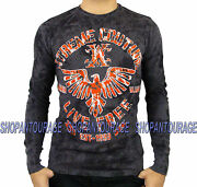 Xtreme Couture Red Zone X1320 New Men`s Charcoal Thearmal By Affliction