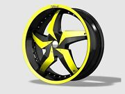 19 X 8 And 19 X 9.5 Inch Staggered Dvinci Gira Black Wheels And Tires Fit 5 X114.3