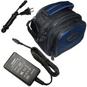 Kit Black Nylon Case And Ac Adapter For Sony Handycam Dcr Series Camcorders