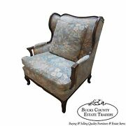 Custom French Louis Xv Style Oversized Wing Back Bergere Living Room Chair