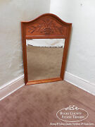 Ethan Allen Country French Carved Trumeau Mirror