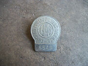 Vintage 1946 Chicago Public Drivers License Chauffer Badge Pin Illinois