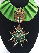 Magnificent 1900 Italian Enameled Sterling Silver Militario Medal Signed