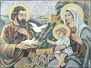 Religious Gathering Mary Moses Jesus Dove Home Decor Marble Mosaic