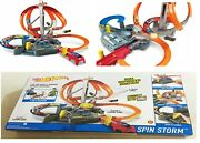 Hot Wheels Spin Storm Track Big Set Ages 4+ New Toy Play Boys Girls Fun Large