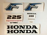 Honda 225hp Outboard 4-stroke Decal Stickers Kit Fourstroke Reproduction