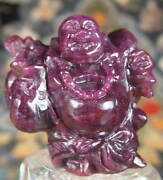 Real Ruby Buddha Statue Carving Unheated Totally Natural 300 Ct.