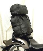 Motorcycle Extralarge Cowhide Leather Sissy T Bar Bag Travel Plain Luggage New