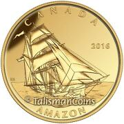 Canada 2016 Mary Celeste Tall Ships Legacy Brigantine 200 Gold Proof Ogp