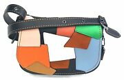 Nwts Coach Shoulder Crossbody Saddle Bag 23 In Patchwork Leather 100 Authentic
