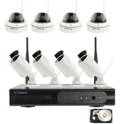 8ch Wireless Nvr Kit Home Security System Camera Wifi8 720p Cameras Night Vision