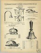1906 Paper Ad Door Bell Bells Gong House Alarm Carriage Trip Call School Daisy