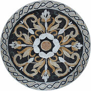 Roman Leaves Ropes Floor Wall Accent Garden Pool Home Marble Mosaic Md1802
