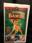 Bambi Walt Disney's Masterpiece Fully Restored 55th Limited Edition 1997 Vhs