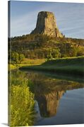 Devil's Tower National Monument, Canvas Wall Art Print, Mountain Home Decor