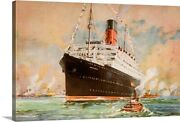 Cunard Line Promotional Brochure For The Canvas Wall Art Print Ships And Boats