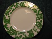 4 Lenox Kate Spade Belle Park Green 9in Accent Plates New