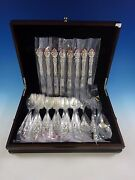 Spanish Baroque By Reed And Barton Sterling Silver Flatware Set 35 Pc New