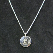 925 Sterling Silver Monogram Personalized Necklace Pick Any Chain Style