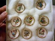 Rare 11 1 1/4 Mini Scale Bas Relief Hummel Plates Signed And Numbered 10 Of 50