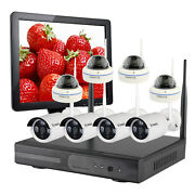 Home Security Wireless Systems 8 Channels 8 Cameras With 4tb Hard Drive Monitor