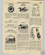 1927 Paper Ad Collapsible Canvas Duck Decoy Johnsonand039s Folding Geese Cedar Wood