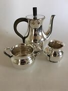 Hingelberg Sterling Silver Coffee Set Designed By Svend Weihrauch From 1936