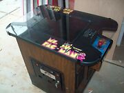 Pac-man Or Mrs. Restored Original Cocktail Table Video Arcade Game With Warranty