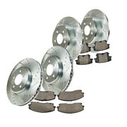 Front And Rear Drill Slot Brake Rotors And Ceramic Pads Fits Charger Magnum 300